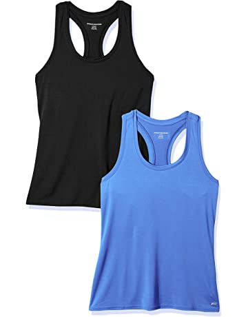b64f209135768f Amazon Essentials Women s 2-Pack Tech Stretch Racerback Tank Top