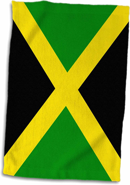 3dRose - Toalla de Bandera de Jamaica, Color Blanco, 38,1 x 55,8 cm: Amazon.es: Hogar