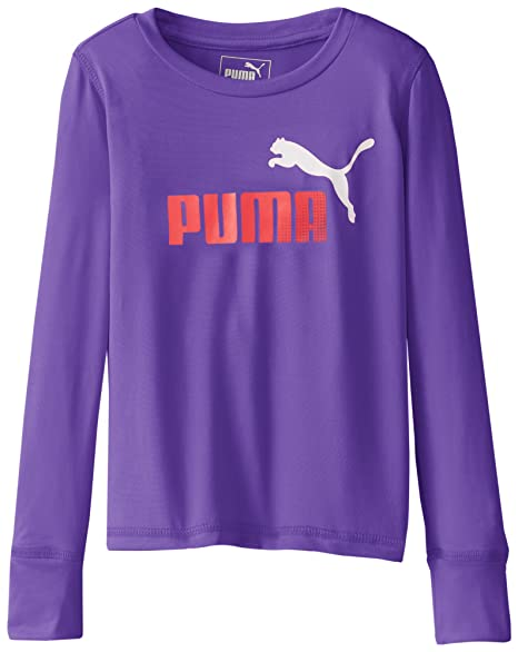 16ab67dff67 Amazon.com: PUMA Little Girls' Forever Faster Long Sleeve Tech Tee: Clothing