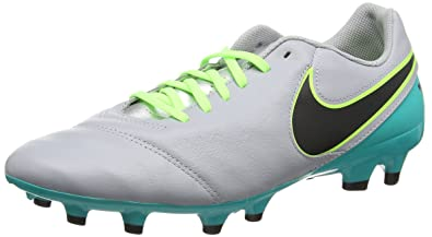 best service 98910 04ca4 Nike Tiempo Genio II Leather FG Chaussures de Football Homme, Multicolore  (Wolf Grey/