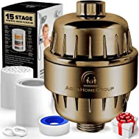 AquaHomeGroup 15 Stage Shower Filter with Vitamin C for Hard Water - High Output Shower Water Filter to Remove Chlorine…