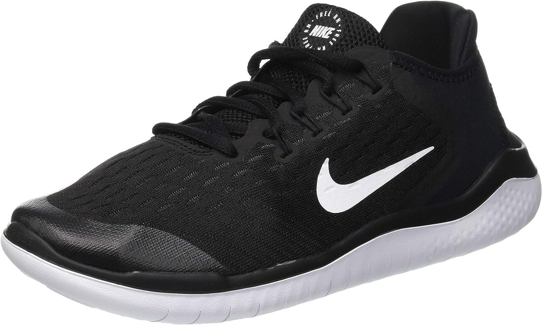 Nike Kids Free RN 2018 (GS) Black/White Running Shoe 5.5 Kids US