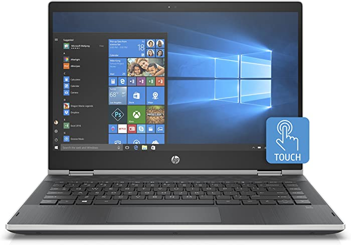 HP Pavilion X360 14-Inch Convertible Laptop, Intel Core I5-8265U Processor, 8 GB RAM, 256 GB Solid-State Drive, Windows 10 Home (14-cd1010nr, Natural Silver)