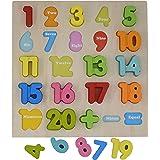 Magnetpro bambino Roccia Numero di legno di apprendimento Jigsaw Puzzle forma numeri Puzzle giocattolo per bambini 23 pezzi