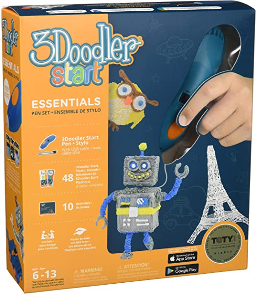 Toy of The Year Award Winner WobbleWorks Inc DoodleBlock 3Doodler Start  Exclusive Essentials 3D Pen Set For Kids with Free Refill Filament STEM Toy For Boys /& Girls 3DS-AMAZ-E Age 6 /& Up