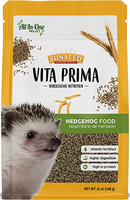 Sunseed Vita Prima Wholesome Nutrition Hedgehog Food All-In-One Pellet Diet, 25 oz