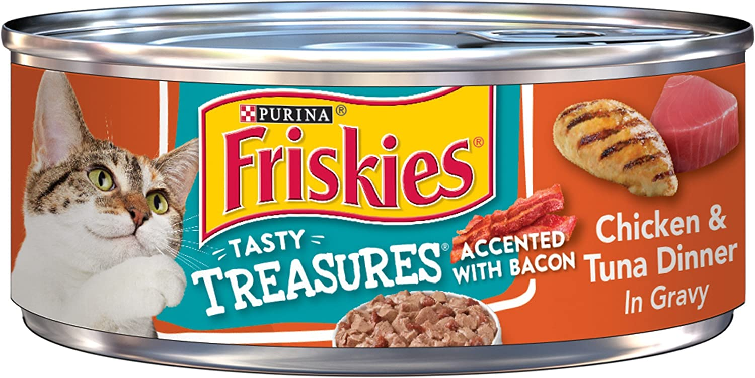 Purina Friskies Tasty Treasures Adult Wet Cat Food - (24) 5.5 oz. Cans