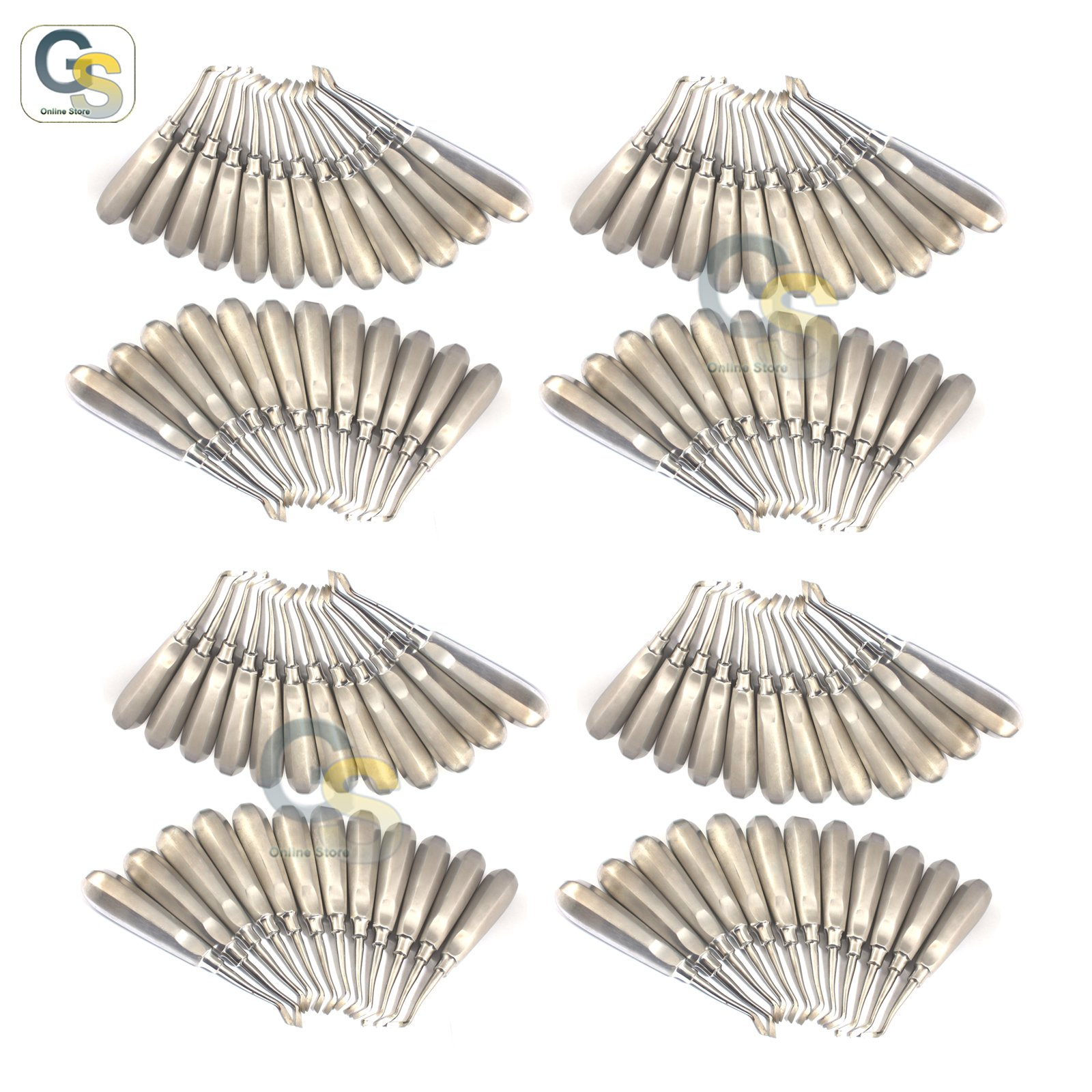 G.S A BIG SET OF 100 PCS NEW ROOT ELEVATOR 190 DENTAL INSTRUMENTS BEST QUALITY