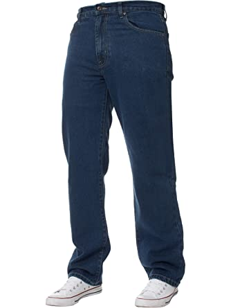 8cfc8a95ff4e4 Neuf pour Hommes Jambe Droite Basique Lourd Travail Jeans Pantalon Jeans  Tous Tour de Taille Grandes