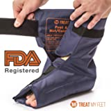 Foot & Ankle Pain Relief Hot/Cold Gel Wrap - Effectively relieve foot and ankle aches & PAINS using compression gel wrap - Heated or Cooled, Targets All Areas - FDA Registered & Doctor Recommended