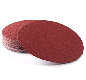 S SATC Premium PSA Sanding Discs 12 Inch 60 PCS 80 100 120 180 240 400 Grit Aluminum Oxide Self Stick Adhesive Sanding Discs for Random Orbital Sander and Belt Disc Sander
