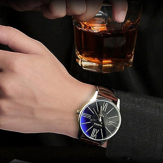 Amazon.com: Mens Watches Top Brand Luxury Yazole Watch Men Fashion Business Quartz-watch Minimalist Belt Male Watches Relogio Masculino: Cell Phones & ...