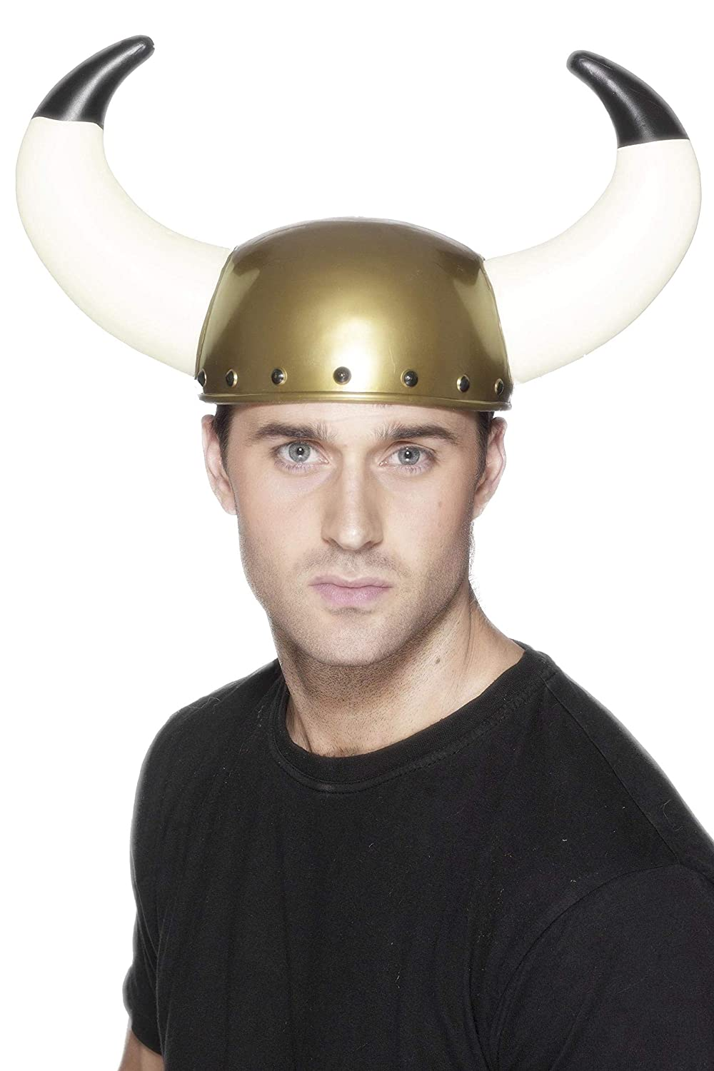Smiffys Men's Viking Helmet with Large Horns, Multi, One Size RH Smith & Sons LTD 9225