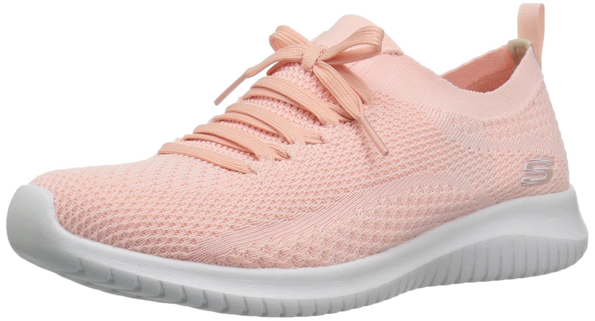 Skechers Sport Women's Ultra Flex Statements Sneaker,Light Pink,10 M US
