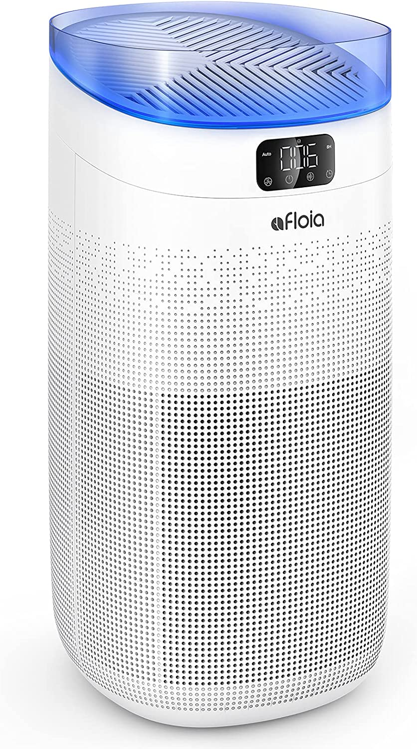 Afloia Smart Air Purifier for Home Large Room about 1000ft², 3-Stage Filtration remove 99.99% Odor/Smoke/Pet Dander, 25dB Air Cleaner with H13 True HEPA Filter Auto Mode/Night Light/Sleep Mode -white