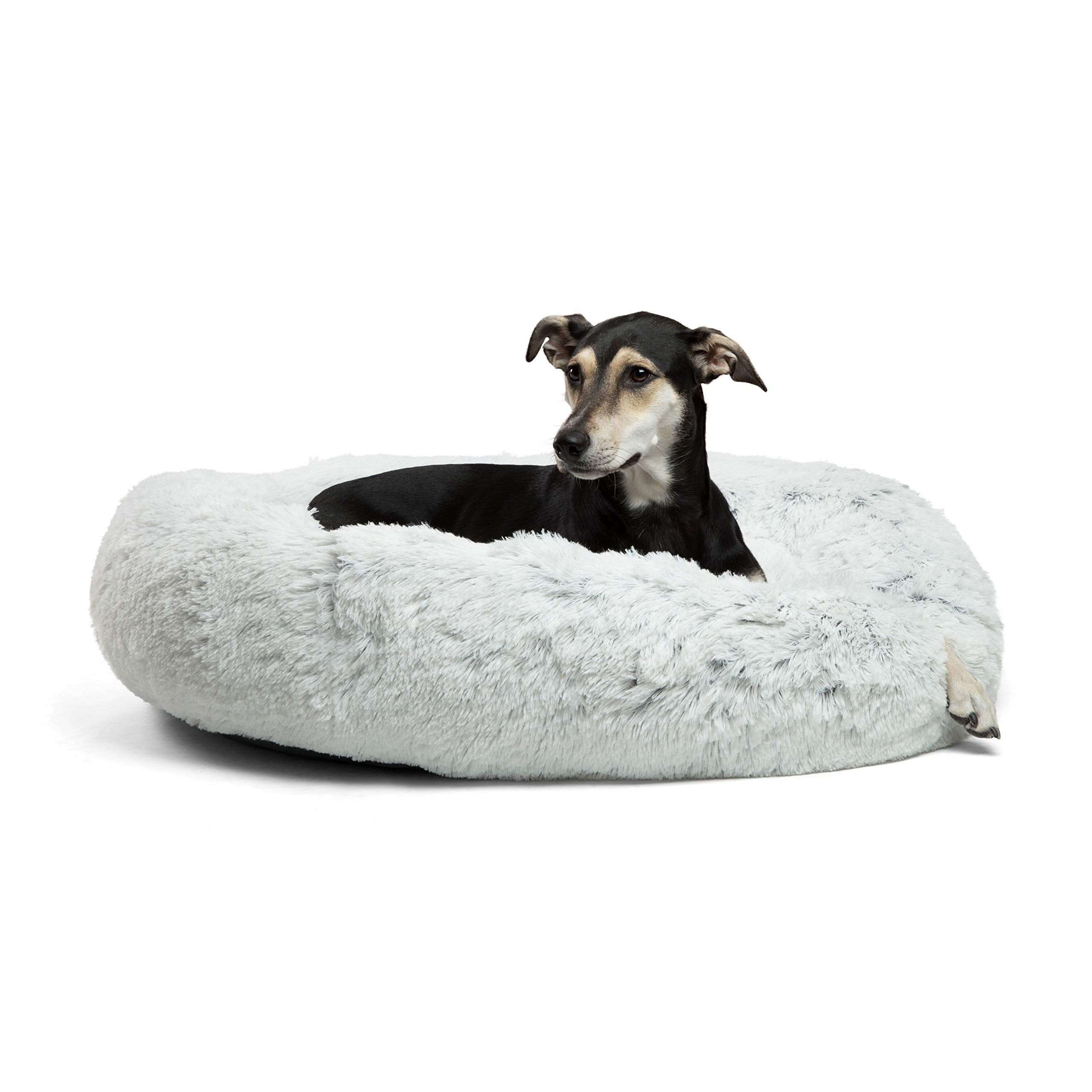 Best Friends by Sheri Calming Shag Vegan Fur Donut Cuddler (36x36, Zippered) - Large Round Donut Cat and Dog Cushion Bed, Removable Shell, Warming and Cozy for Improved Sleep - for Pets Up to 100 lbs by Best Friends by Sheri