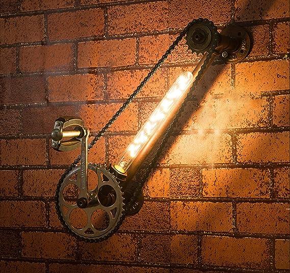 GUOQ Color oxidado Retro Industrial forja lámpara Vintage ...