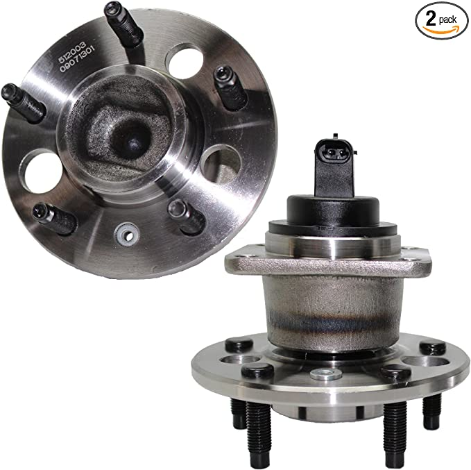 Rear Wheel Bearing and Hub Assembly 5 Lug W//ABS Pair Detroit Axle - 512003 x 2 2 HIGHEST QUALITY 10 YEAR WARRANTY!