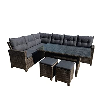 Amazonde Greemotion 129881 Rattan Lounge Set Tessin Loungemöbel