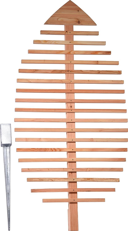 dobar Pflanzen-Rankhilfe Design in Blattform, Rankgitter aus Holz, XXL-Rankgerüst, Lärche, natur, 84x6.5x160 cm, 58211e XXL-Rankgerüst Lärche