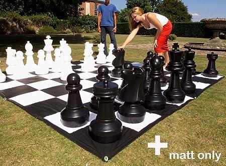 Garden Games 807 - Tablero de Ajedrez Gigante de lona, 3x3 metros: Giant Mat - 3 X 3 metre pvc mat for use with Giant Draughts and Chess: Amazon.es: Juguetes y juegos