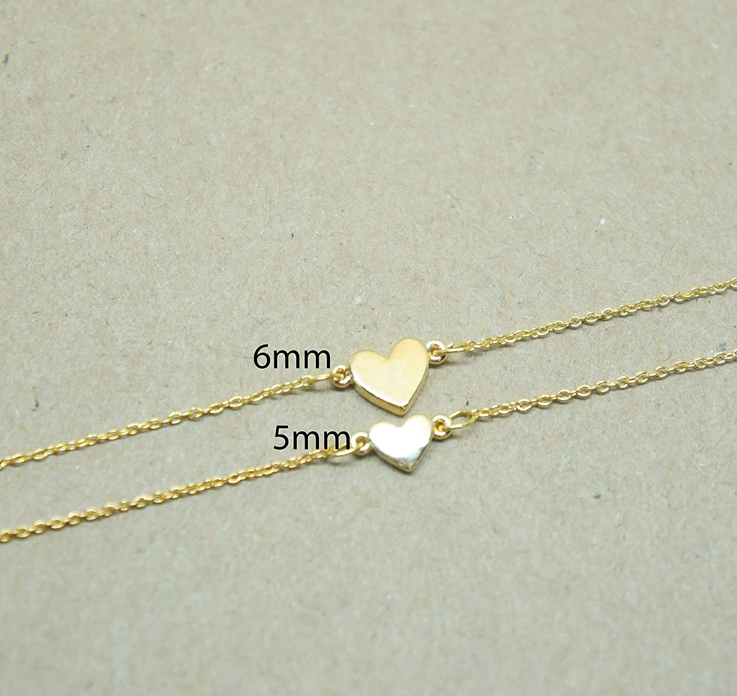 Two necklaces Friendship Necklace Personalized Mother Daughter Necklace Sisters Gift Idea Bond Necklaces Tiny Initial Heart Necklace Set