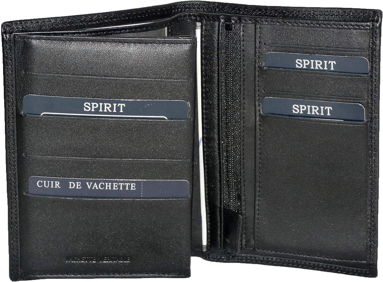 Noir Porte Feuille 3 Volets Grande Taille en Cuir r/éf F3881 3 Couleurs Disponible