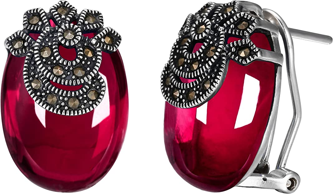 Best Wing Jewelry .925 Sterling SilverSnowflake//w Blue Aquamarine CZ Stud Earrings