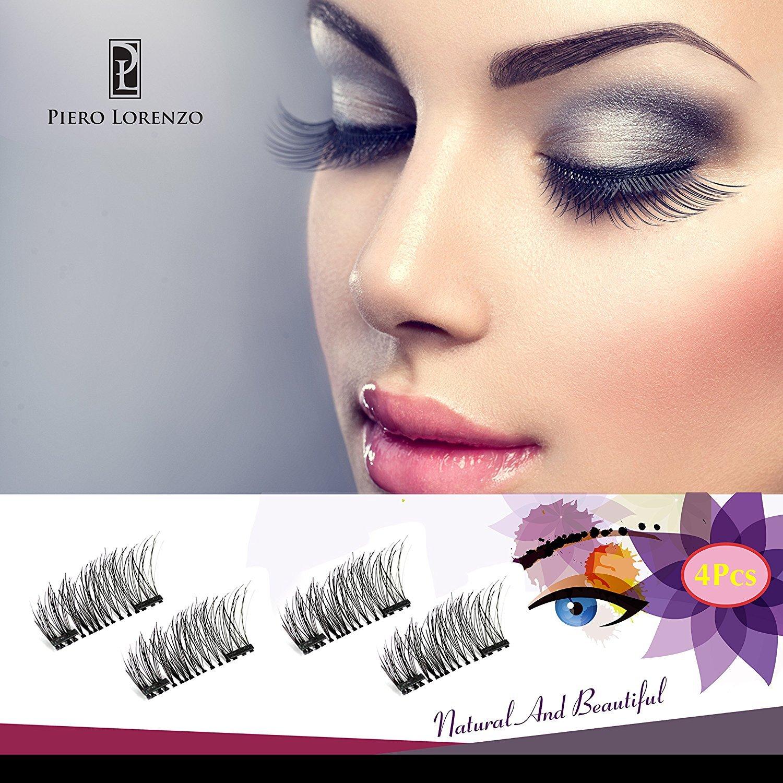 47bae48b176 Amazon.com : Magnetic Eyelashes Dual Magnet Glue-free 3D Reusable Full Size  Premium Quality Natural Look Best False Lashes - 2018 : Beauty
