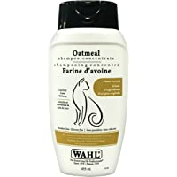 Wahl 58346 Oatmeal Cat Shampoo Concentrate Moisturizes Dry Skin and Relieves Itching, Paraben Free, 455ml
