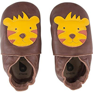 Bobux Tiger Toffee Leather Baby Soft Soles