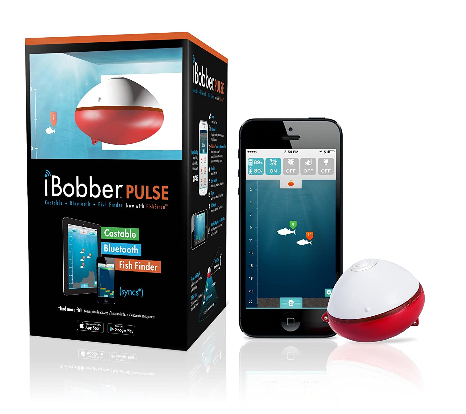 Amazon.com: iBobber Pulse with Fish Attractor Wireless Bluetooth Smart Fish  Finder for iOS and Android devices: Sports & Outdoors