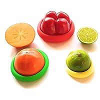 Siliconen Deksels 4 Pack Siliconen Caps voor Fruit en Groenten   Verschillende Maten   Eco Product
