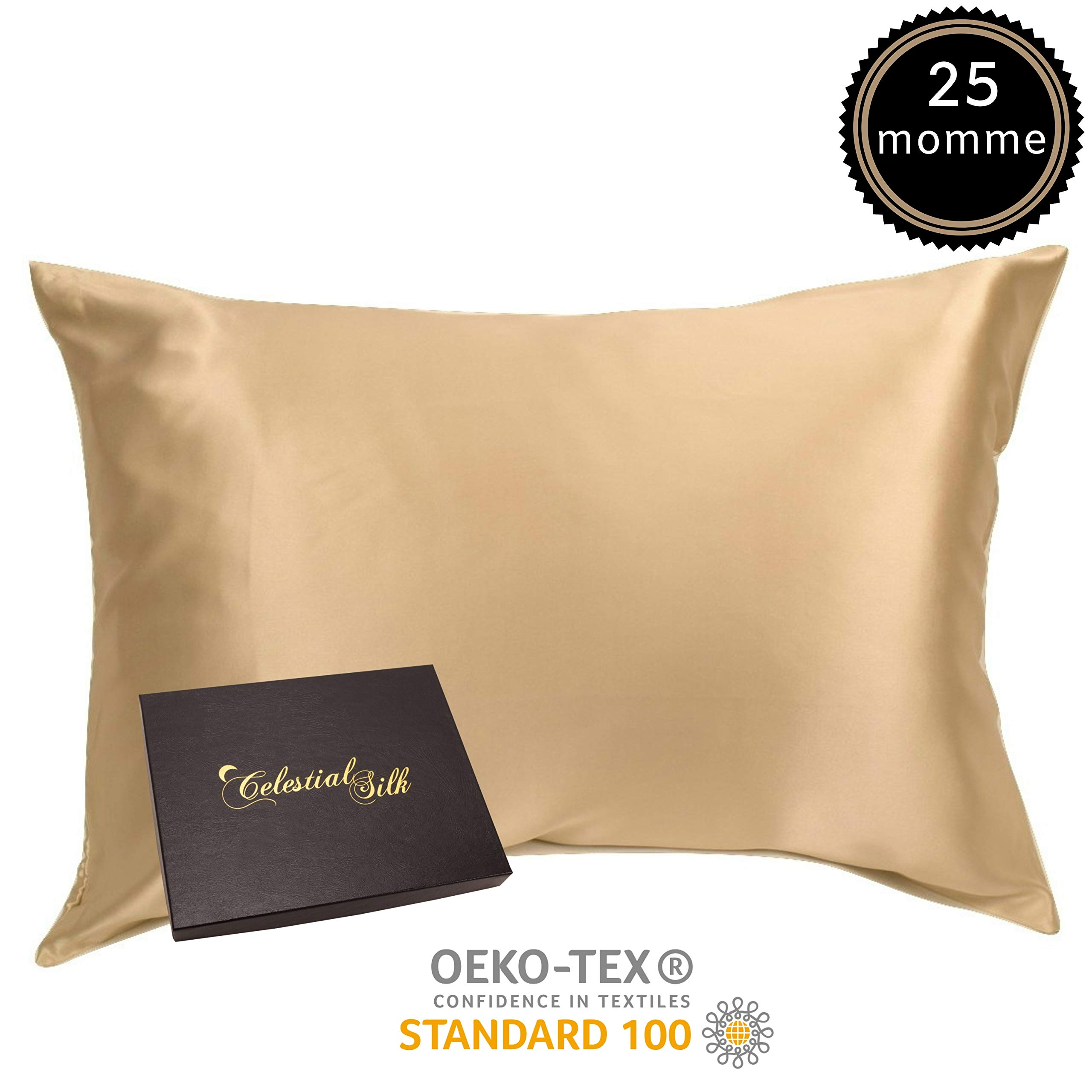 100 Silk Pillowcase For Hair Zippered Luxury 25 Momme