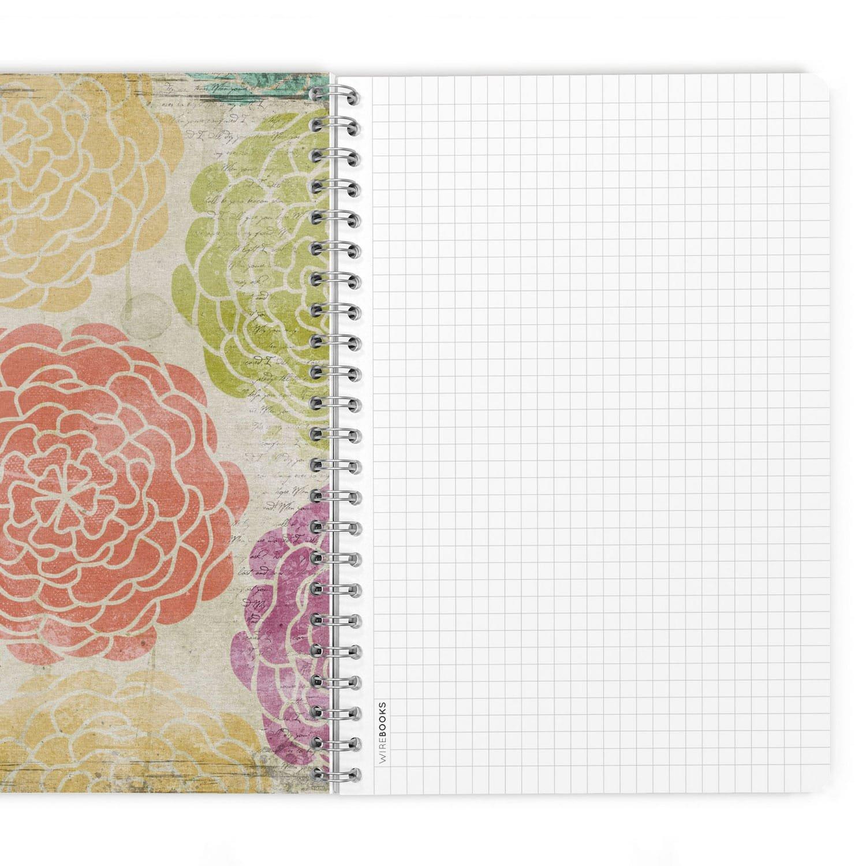 Cahier Journal Carnet WIREBOOKS 5040 DIN A5 120 Pages de Papier 100g Blanc Vierge Bloc-Notes Notebook