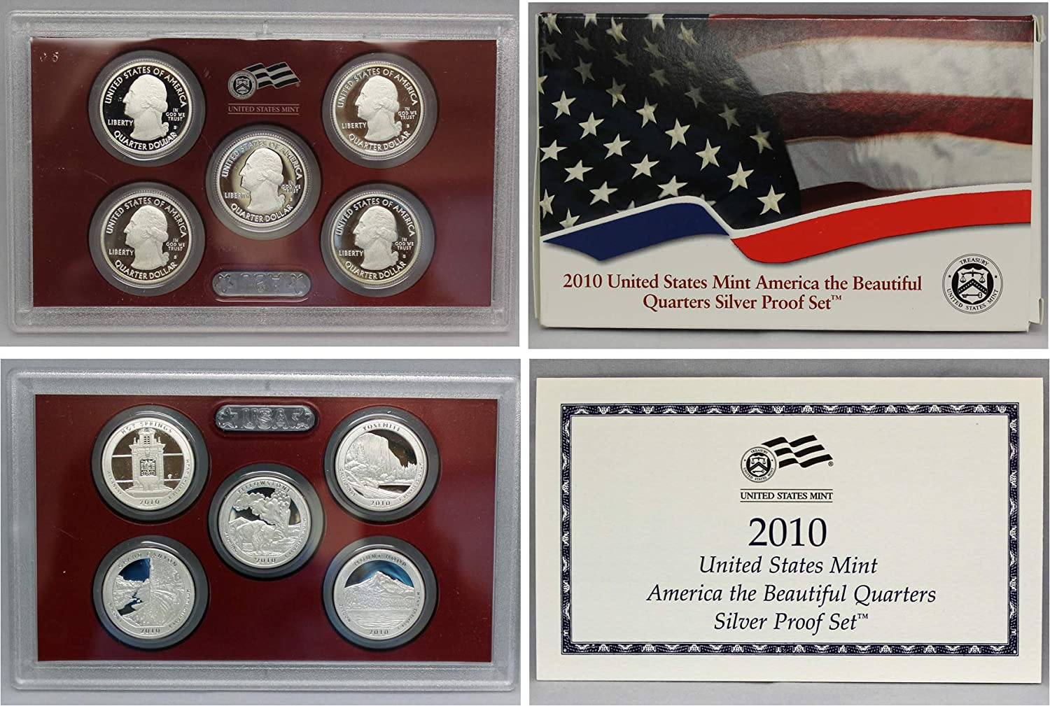 2016 2017 S America the Beautiful National Parks U.S Coins Clad Proof Sets