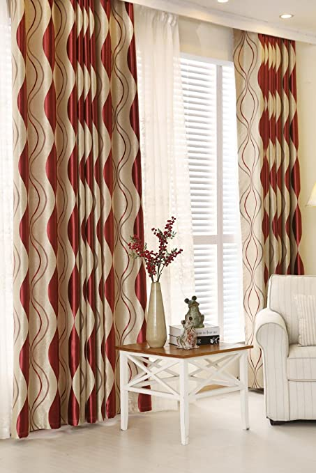 ZWB Room Darkening Thermal Insulated Blackout Grommet Window Curtain For Living Decoration Striped