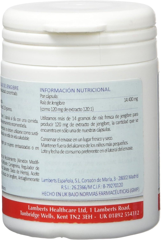 Lamberts Raíz de Jengibre 120mg - 60 Cápsulas: Amazon.es: Salud y ...