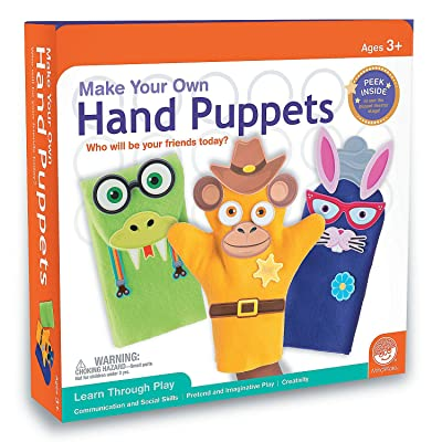 MindWare Make Your Own: Hand Puppets craft kit: Toys & Games
