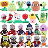 "Plants vs Zombies 2 PVZ Figures Plush Toys Set (24pcs) Baby Staff Toy Stuffed Soft Doll Lot 15-20cm/6""-8"" Tall"