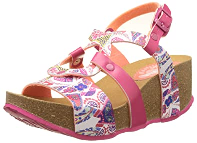Desigual Bio7 Hearts, Heels Sandals para Mujer, Blanco (White 1000), 38 EU
