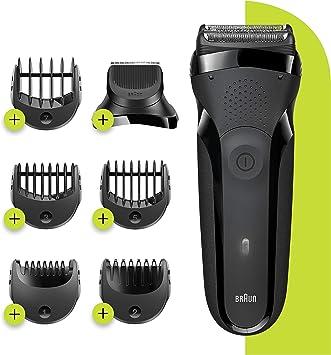 Braun Series 3 Shave&Style 300BT, Afeitadora Eléctrica 3 en 1, Máquina de Afeitar Para Hombre Con Recortadora De Precisión Para La Barba, 5 Peines, Color Negro ...