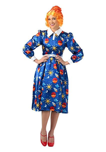 1940s Costumes- WW2, Nurse, Pinup, Rosie the Riveter The Magic School Bus Miss Frizzle Plus Size Costume $44.99 AT vintagedancer.com