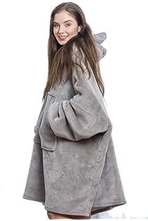 Snug Comfy Oversized Sherpa Blanket Fleece Hoodie Sweatshirt For Adults Children