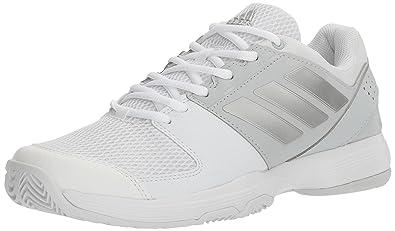adidas Women's Shoes | Barricade Court Tennis, White/Metallic Silver/Medium  Grey Heather