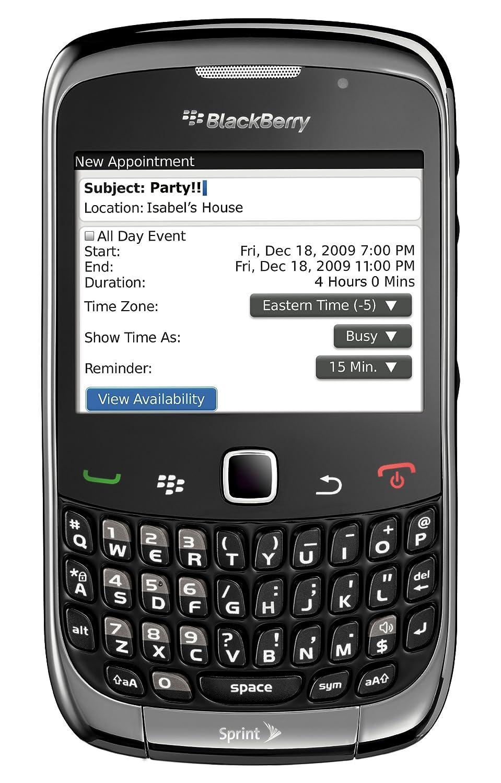 amazon com blackberry curve 3g 9330 phone grey sprint cell rh amazon com