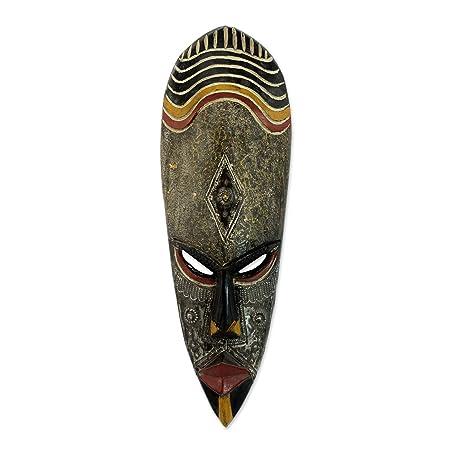 Amazon.com: Decorativo Novica ghanaian máscara de madera ...
