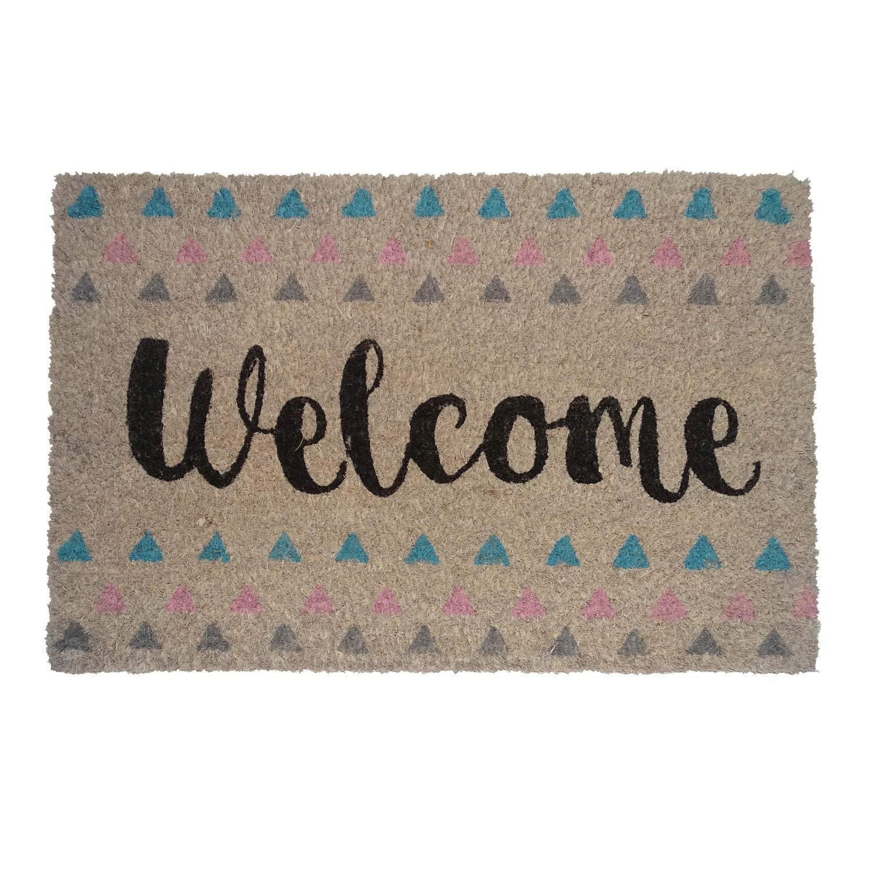 koko doormats - Felpudos Originales y Divertidos para la Entrada de casa - Welcome - PVC, Coco, 40 x 60 cm