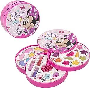 Disney - Set de maquillaje redondo con 3 niveles Minnie Mouse (77198): Amazon.es: Juguetes y juegos