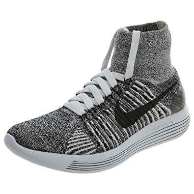 official photos d15b6 96dfd Nike Lunarepic Flyknit Running Women's Shoes, White/Black ...